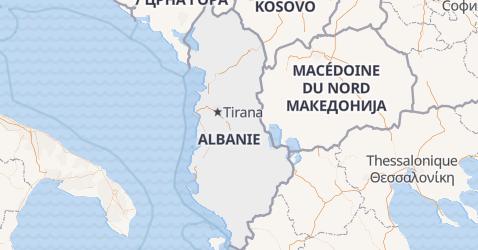Carte de Albanie