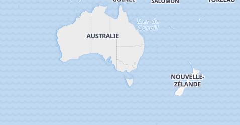 Carte de Australie