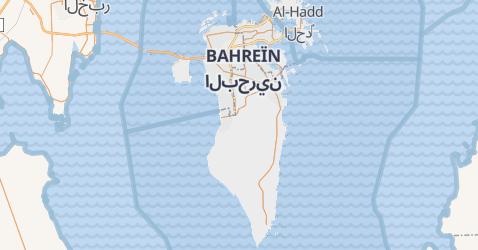 Carte de Bahreïn