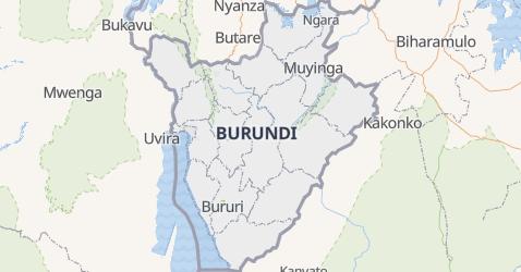 Carte de Burundi