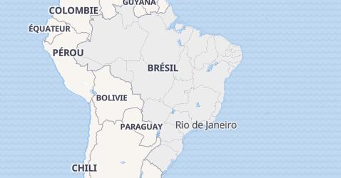 Carte de Brésil