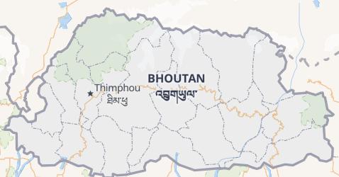 Carte de Bhoutan