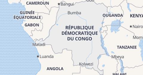 Carte de République Démocratique du Congo