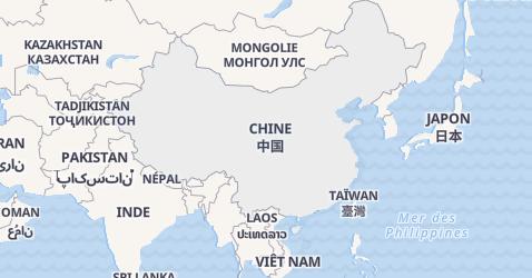 Carte de République Populaire de Chine