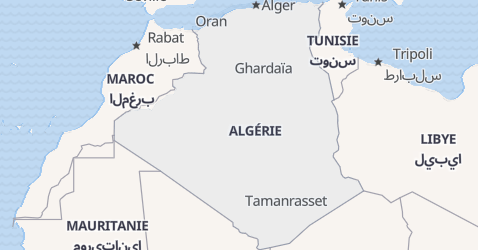 Carte de Algérie