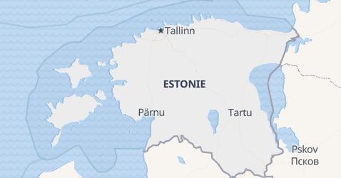 Carte de Estonie