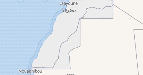 Carte de Sahara occidental