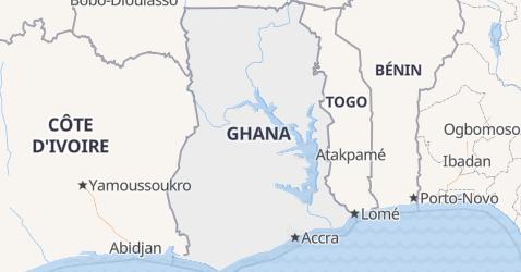 Carte de Ghana