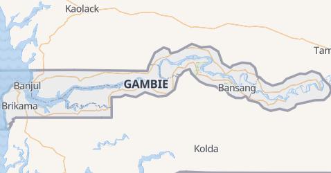 Carte de Gambie