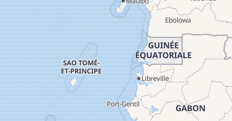 Carte de Guinée Équatoriale