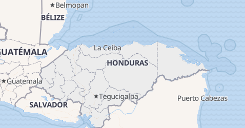 Carte de Honduras