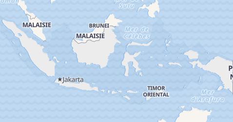 Carte de Indonésie