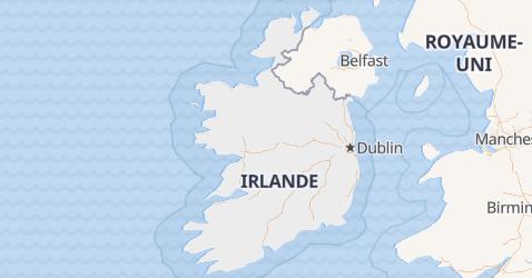 Carte de République d'Irlande