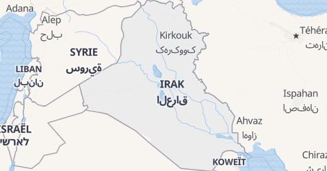 Carte de Irak