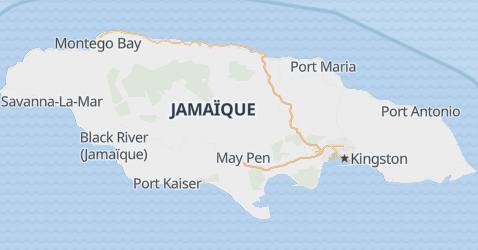 Carte de Jamaïque