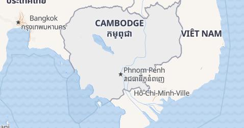 Carte de Cambodge