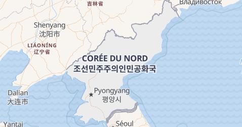 Carte de République Populaire Démocratique de Corée