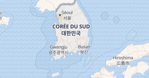 Carte de République de Corée