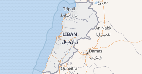 Carte de Liban