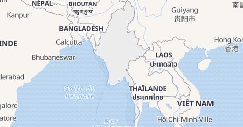 Carte de Myanmar