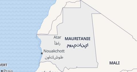 Carte de Mauritanie
