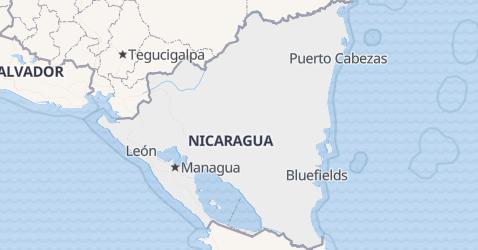 Carte de Nicaragua