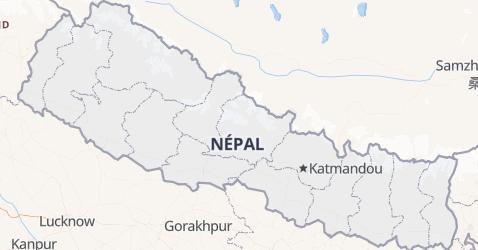 Carte de Népal