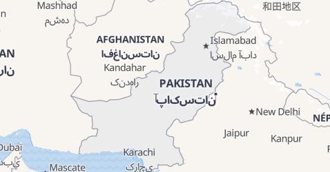 Carte de Pakistan