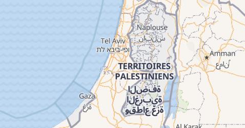 Carte de Territoire Palestinien