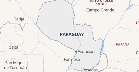 Carte de Paraguay