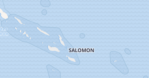 Carte de Îles Salomon