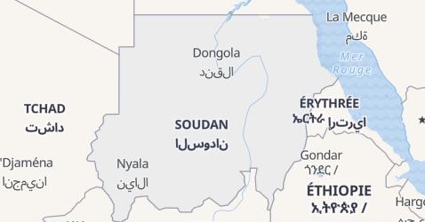 Carte de Soudan