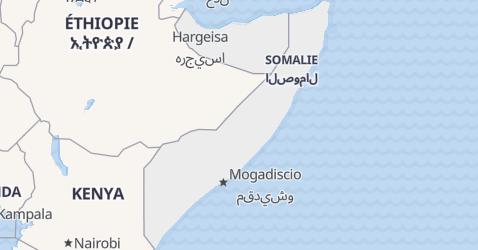 Carte de Somalie