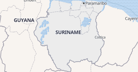 Carte de Suriname