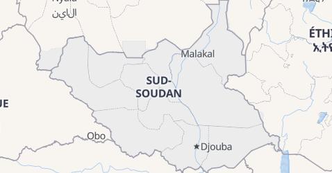 Carte de Soudan du Sud