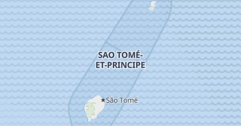 Carte de Sao Tomé-et-Principe