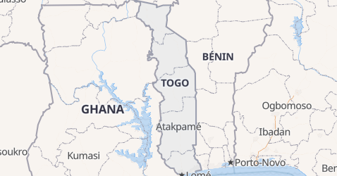 Carte de Togo