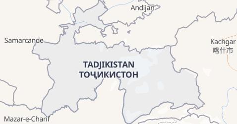 Carte de Tadjikistan