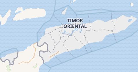 Carte de Timor de l'Est