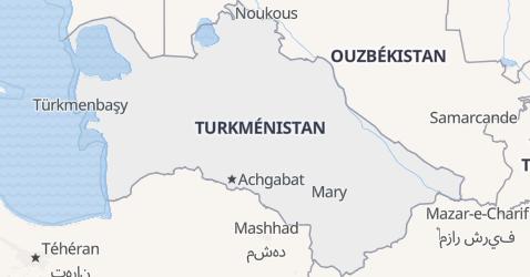 Carte de Turkménistan