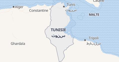 Carte de Tunisie