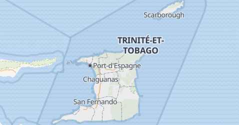 Carte de Trinité-et-Tobago
