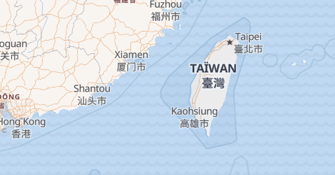 Carte de Taïwan