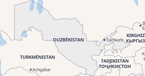 Carte de Ouzbékistan