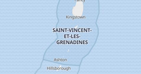 Carte de Saint-Vincent-et-les-Grenadines