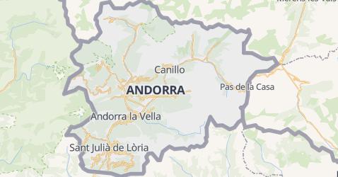 Mappa di Andorra