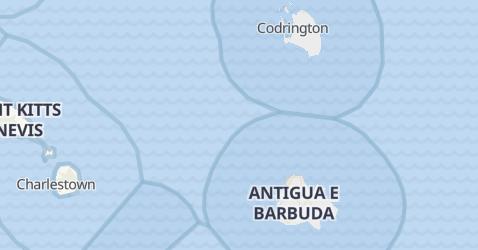 Mappa di Antigua e Barbuda