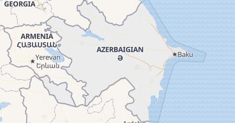 Mappa di Azerbaijan