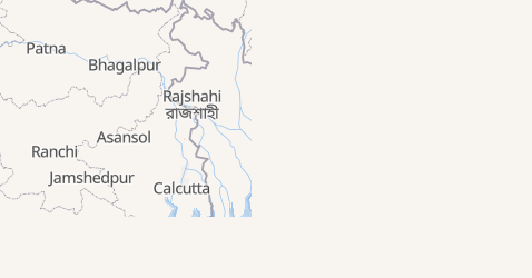 Mappa di Bangladesh