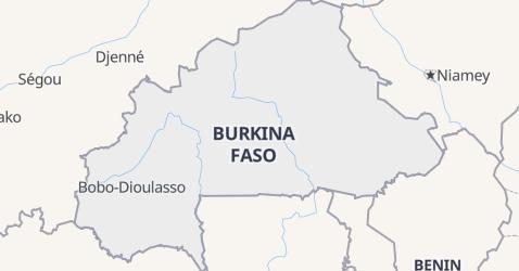 Mappa di Burkina Faso